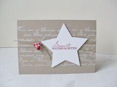 Carolas Bastelstübchen: Es schneit, es schneit..... Stampin Up Christmas, Christmas Star, Christmas Cards, Christmas Activities, Christmas Projects, Bday Cards, Nouvel An, Card Tags, Stampin Up Cards