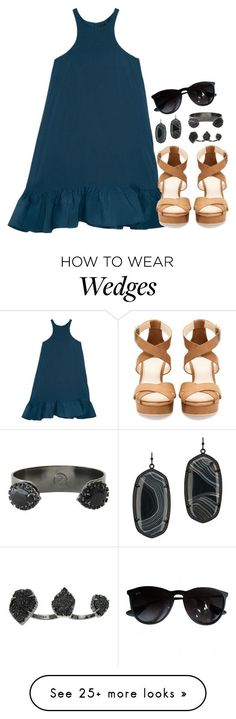 """""""festival vibes"""" by conleighh on Polyvore featuring Cynthia Rowley, Pull&Bear, Kendra Scott and Ray-Ban"""