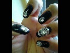 ▶ Bling Nail Art Tutorial - YouTube