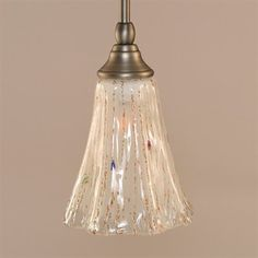 "Different colors/finishes avail.  Toltec Lighting 23-BN-721 Mini Pendant with 5.5"" Crystal Glass"