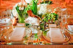 Beautiful Beverly Hills Hotel Ballroom wedding with Modern Green and White Details - Inspired By This