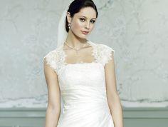 Satin-Brautkleid mit klassischer A-Linie und Drapierungen