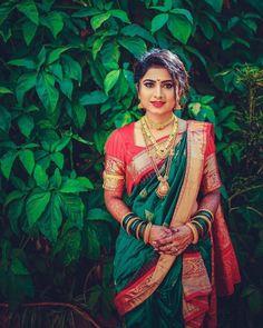 Beauty is power, A smile is its sword . . Maharashtrian royal bride..💕💕 . . Follow @maharashtrian_wedding . . . Use hashtag…