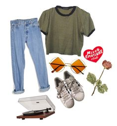 """Mixed emotions #20"" by hopewillis on Polyvore featuring Levi's, Retrò, adidas, Dot & Bo and Tuesday Bassen"