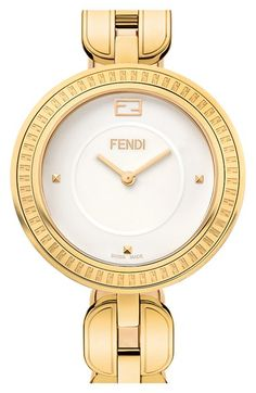Fendi Bracelet Watch with Genuine Arctic Fox Fur, 36mm