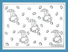 Easter Coloring Page Free Printable - from a children's book illustrator. I'd like to be in a Jellybean rainstorm, too.