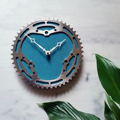 Bike Gear Clock - Gifts for Cyclists.   Vintage Bicycle Chainring upcycled into Clock by Tread & Pedals  www.treadandpedals.com.au