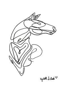 Horse: Single Line Art