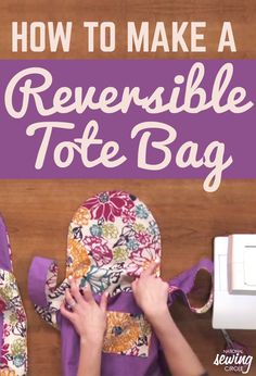 Because finding an attractive reusable bag can be difficult, Nicole LaFoille teaches you how to make your own reversible and reusable 12 x 12 tote bag. She uses quilting cotton because it is strong enough for both exteriors and needs to be interfaced. So pick out two patterns you like and add cool zippered pockets to your bag.