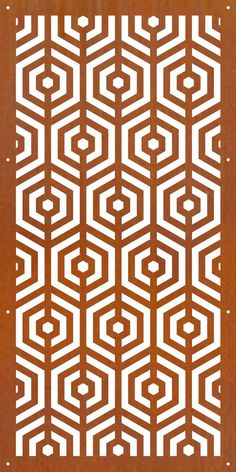 DECORATIVE METAL SCREENS CORTEN LASER CUT GARDEN SCREEN - D2  600 X 1200 1.6mm