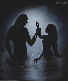a little bit of fantasy) Thranduil/Lee Pace Dark Fantasy Art, Fantasy Love, High Fantasy, Fantasy World, Club Fantasy, Romance Art, Fantasy Romance, Art Romantique, Fantasy Couples