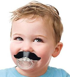 Lil' Shaver Mustache Pacifier - Add A 'Stache In A Flash To Your Baby