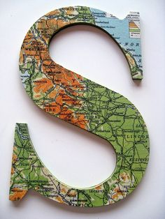 In the Old Road: Map Letters.... Another Pinspiration