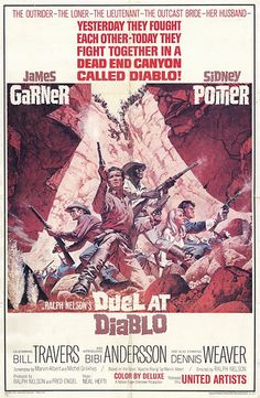 Duel at Diablo & Others Lot (United Artists, One Sheets X Western. Starring - Available at Sunday Internet Movie Poster. Western Film, Western Movies, Western Art, Movie Photo, Movie Tv, Westerns, Black Actors, Blu Ray, Movie Poster Art