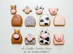 Fattoria animali Cookie Cutter Set piccolo di 3DCookieCutterShop