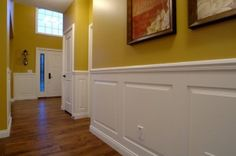 would love wainscoting just with dif. wall color (grey or greyishblue maybe)