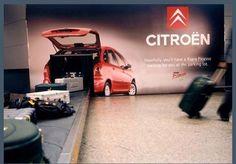 Ambient Marketing de Citroën en un aeropuerto.