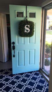 The front door now, a happy fresh color!