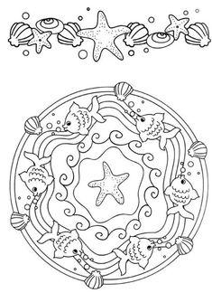 Mandala Coloring Pages Beautiful Ocean,download printable Mandala Coloring pages,coloring ocean animals,mandala ocean,ocean animals coloring sheets,ocean mandala coloring pages,