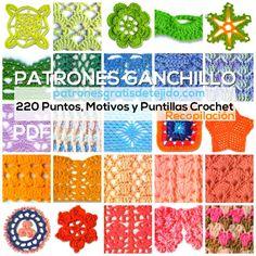 pdf con 220 patrones de puntos crochet para descargar gratis