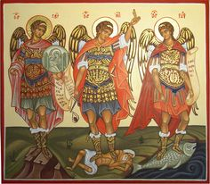 Three Archangels:   Gabriel, Michael and Rafael  Icons