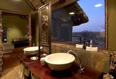The bathrooms are extensive and well thought out. Private Games, Well Thought Out, Tree Tops, Black House, Bathrooms, National Parks, Bathroom, Bath Room, Full Bath