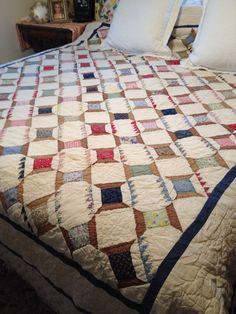 "Large Antique Queen Quilt Handmade Made In 1940""s, eBay, richartdesigns"