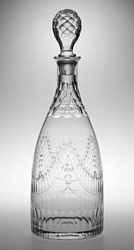 18th C. Reproduction Taper Decanter - Rare Wine Co.