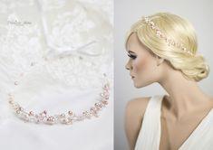 Haarschmuck & Kopfputz - Brautkranz Haarschmuck Perlen Haarkranz Haardraht - ein Designerstück von Princess_Mimi bei DaWanda