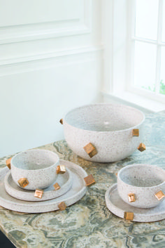 Kelly Wearstler X Ben Medansky - raw and refined artisan tableware. #kellywearstler #benmedansky