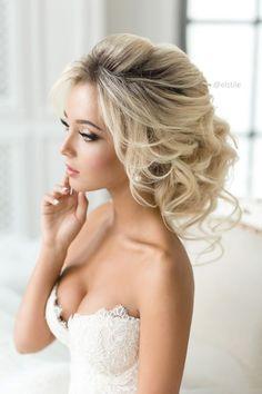 Coiffure De Mariage  : Featured Hairstyle: Elstile; www.elstile.ru; Wedding hairstyle idea.