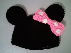 Minnie hat crochet