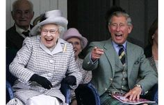 This is a great picture! The Queen and The Prince of Wales at The Highland Games.  (This is during the Royal Family's summer holiday at Balmoral)