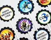 Skylander Birthday Cupcake Toppers Set of 12
