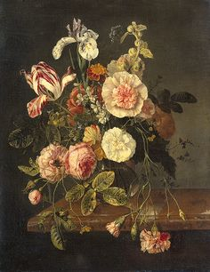 Still Life With Flowers by rachel ruysch | Flowers Paintings