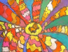 O'Keeffe Abstract Flowers- Grade 1