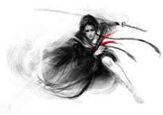 saya 2 by muju on DeviantArt Female Samurai Tattoo, Female Ninja, Samurai Artwork, Ninja Art, Intricate Tattoo, Japanese Tattoo Art, She Wolf, Katana, Steam Punk