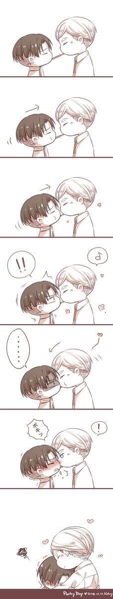 Eruri Erwin Smith x Levi Ackerman Anime-Manga: Shingeki no Kyojin (Attack on… Levi And Erwin, Levi X Eren, Attack On Titan Ships, Attack On Titan Anime, Levi Ackerman, Otp, Yaoi Hard, Eruri, Anime Ships