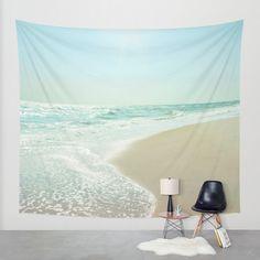 Good Morning Beautiful Sea Wall Tapestry by Bella Blue Photography | Society6