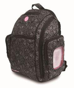 Mochila Maternidade Minnie Disney BabyGo Baby Bag G Sport Backpack  preto-e-rosa 47da35f5234