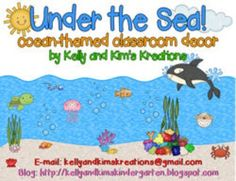 Under the Sea! A HUGE pack of ocean-themed classroom decor! This pack has tons of editable nametags and labels, an editable helper chart and birthday chart, plus a growth chart, classroom behavior system, and so much more!!
