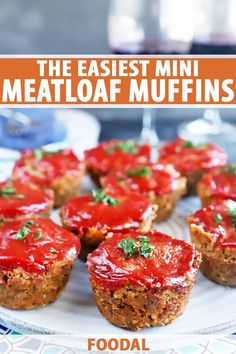 45 minutes · Serves 12 · Mini meatloaf muffins are an easy entree option to get dinner on the table in under an hour. Made with ground beef and topped with ketchup, they're super flavorful and juicy. Even if you're not a fan… More Mini Meatloaf Muffins, Mini Meatloaf Recipes, Beef Recipes, Easy Appetizer Recipes, Delicious Dinner Recipes, Simple Muffin Recipe, Muffin Recipes, Food Processor Recipes, Ketchup