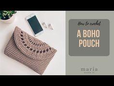 Πλεκτό Boho Τσαντάκι - Φάκελος. - YouTube Crochet Bag Tutorials, Crochet Purse Patterns, Crochet Basket Pattern, Crochet Videos, Boho Crochet, Tapestry Crochet, Crochet Handbags, Crochet Purses, Crochet Bags