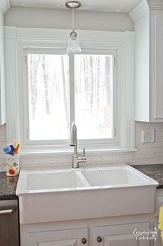 DIY White Painted Kitchen Cabinets Reveal :: Hometalk Ikea Sink