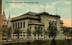 The Desert Gymnasium Salt Lake City, Utah Original Vintage Postcard