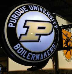 Purdue University Rotating Illuminated Wall Sign featuring the Boilermakers Athletic P. Purdue University, Wall Signs, 5 D, Man Cave, Dorm, Fans, Hardware, Athletic, Gift