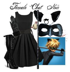 """""""Female Chat Noir"""" by jessieyb on Polyvore featuring Wallace and Wilsons Leather"""
