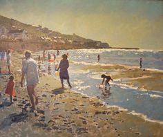 """Wow.... I've never seen the glare of the sun captured so exquisitely!  - Ken Howard RA 40"""" x 48"""""""