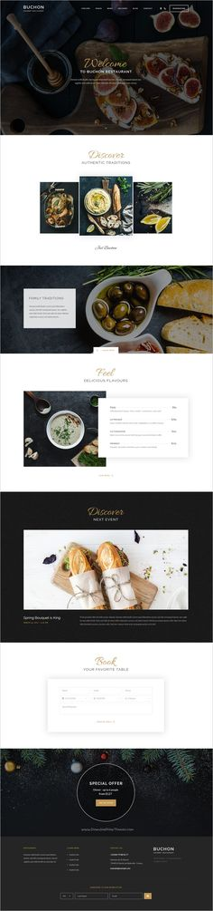 Buchon is a beautiful #PSD template for #restaurants and food related #niche websites with 5 homepage variations and 21 layered PSD pages download now➩ https://themeforest.net/item/buchon-multipurpose-restaurant-template/19239102?ref=Datasata