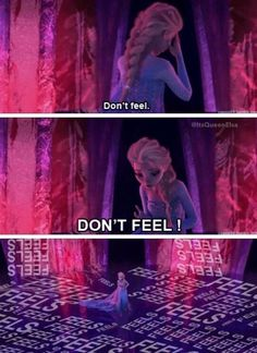 So I guess now I understand why we all relate to Elsa so much... ^^THIS...xD